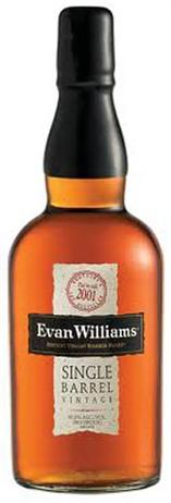 Evan Williams Whiskey Single Barrel Vintage